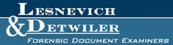 Lesnevich & Detwiler: Forensic Document and Handwriting Laboratory